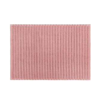 100% cotton striped bath mat