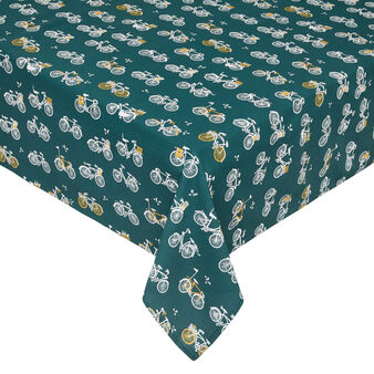 100% cotton tablecloth with bicycles print