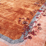 Chenille rug with floral motif