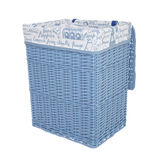 Paris laundry basket in wood and fabric
