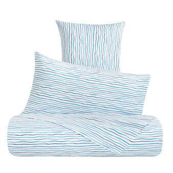 Completo lenzuola cotone percalle a righe