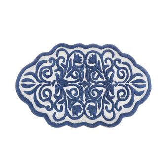 Tappeto bagno cotone motivo damasco