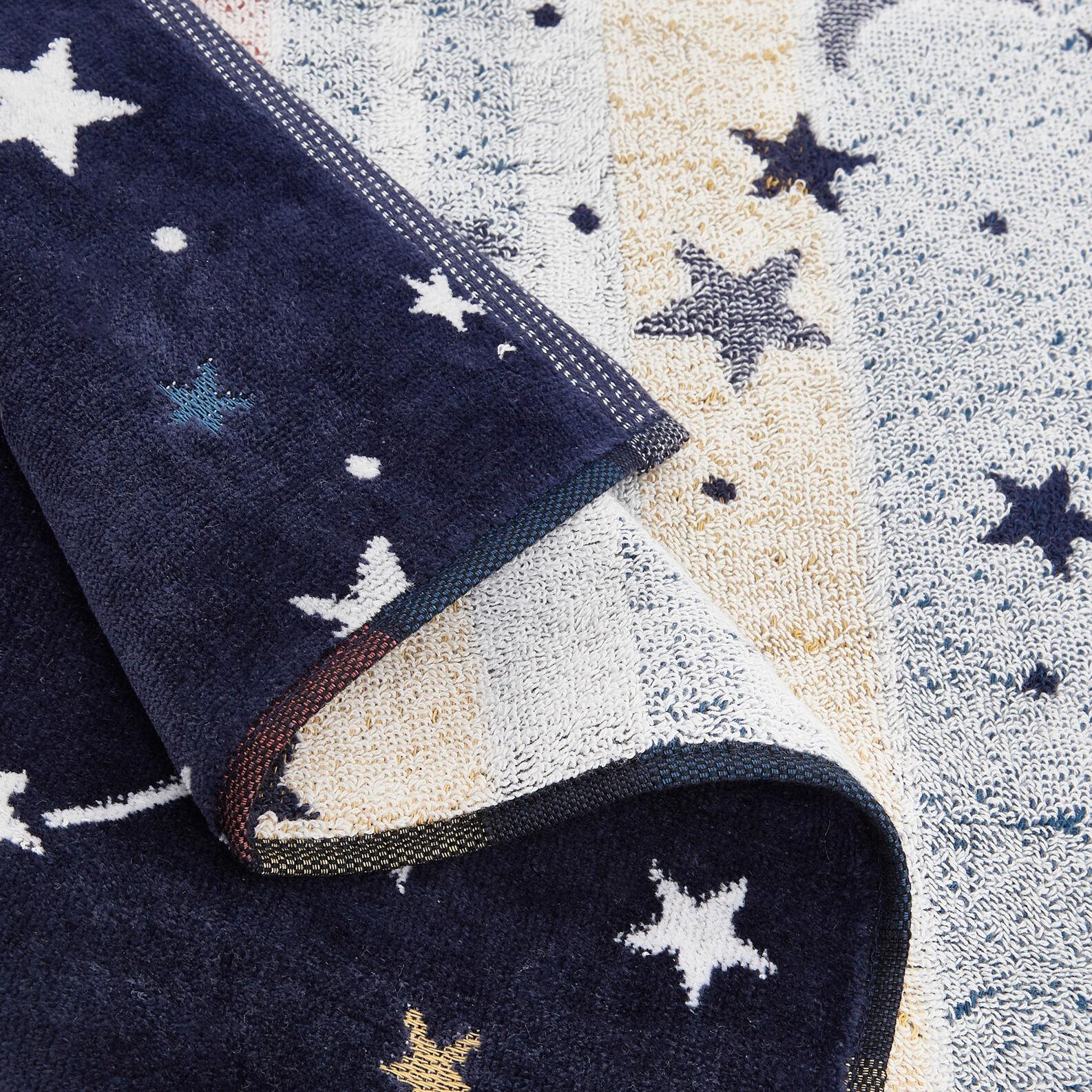 Asciugamano cotone effetto velluto motivo spaziale