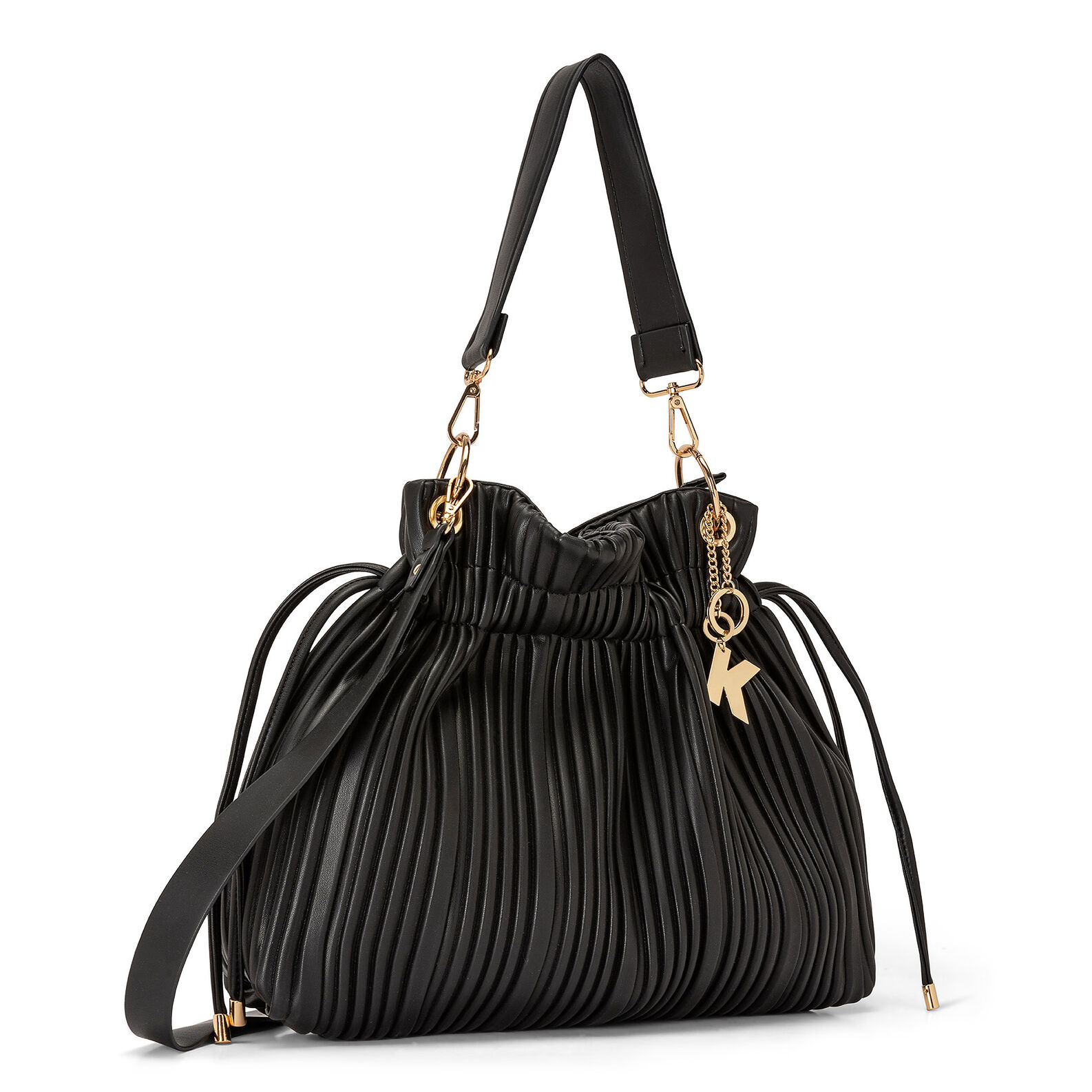 Koan pleated fabric shoulder bag