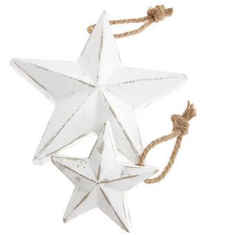 Addobbo stella legno sbiancato