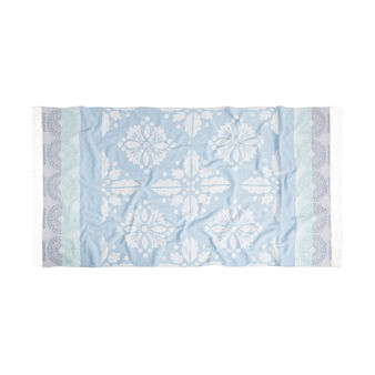 100% cotton hammam-style majolica beach towel