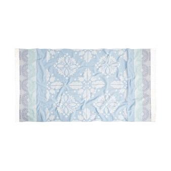 100% cotton hammam-style majolica beach towel