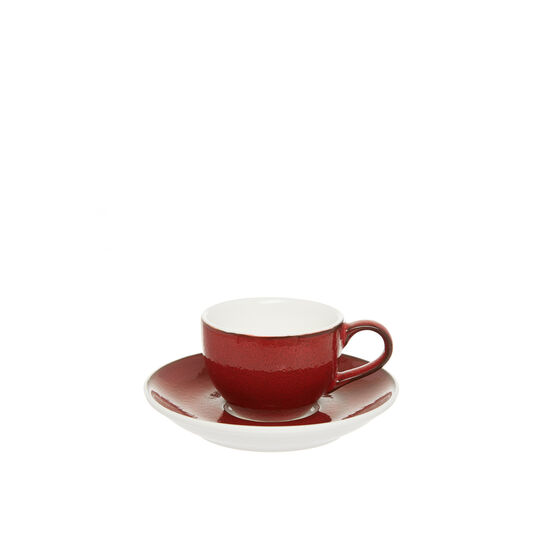 Speckled-effect porcelain coffee cup
