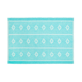 100% cotton table mat with diamond design
