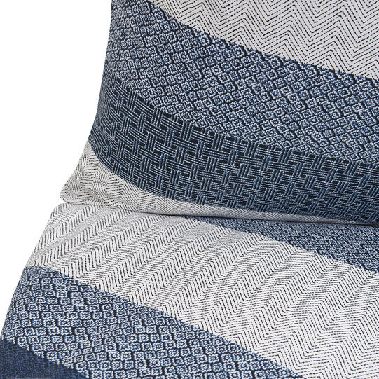 Cotton percale pillowcase with micro pattern