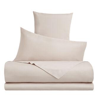 Solid colour cotton satin bed linen set