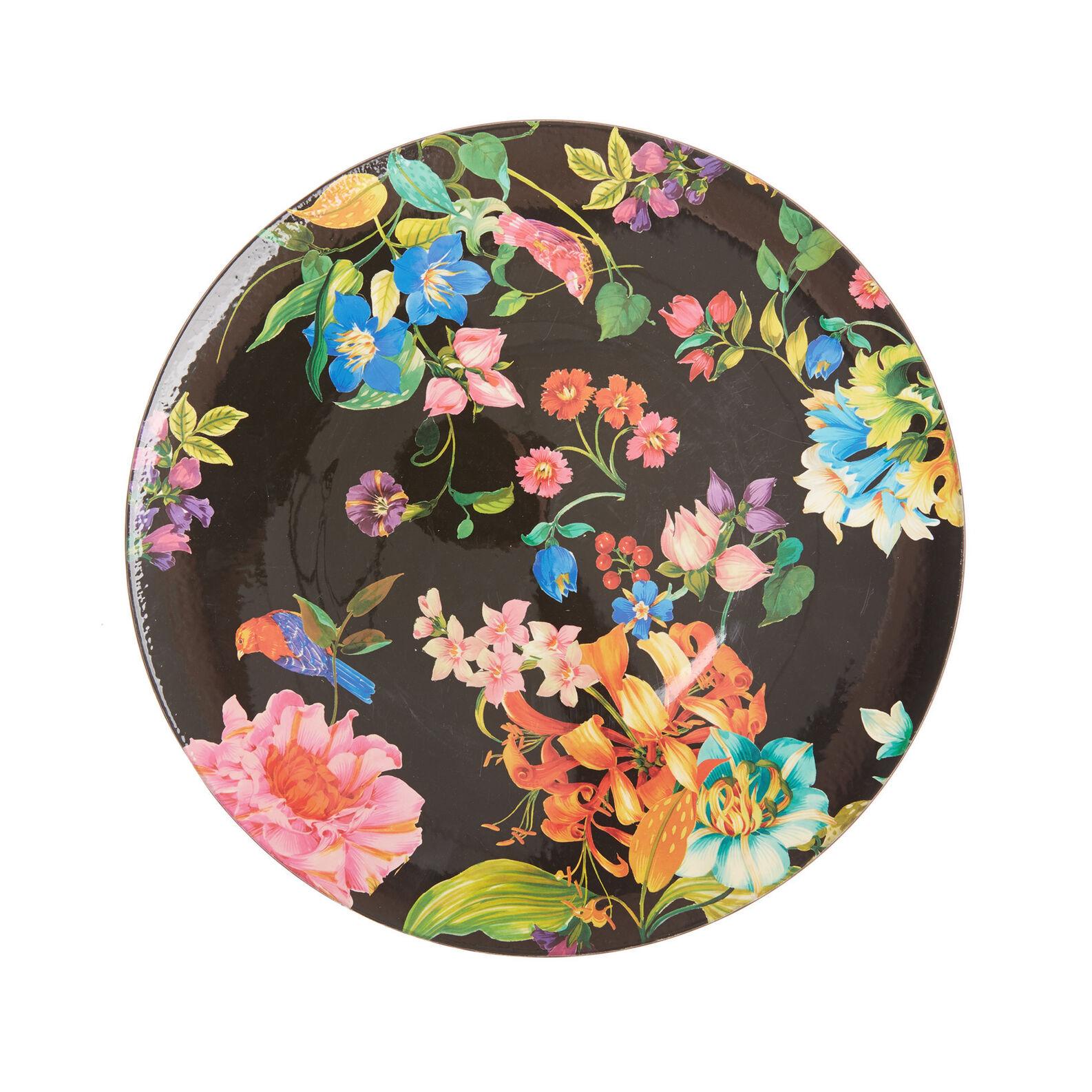 Sottopiatto plastica motivo fiori