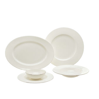 Linea tavola new bone china con filo platino Roma