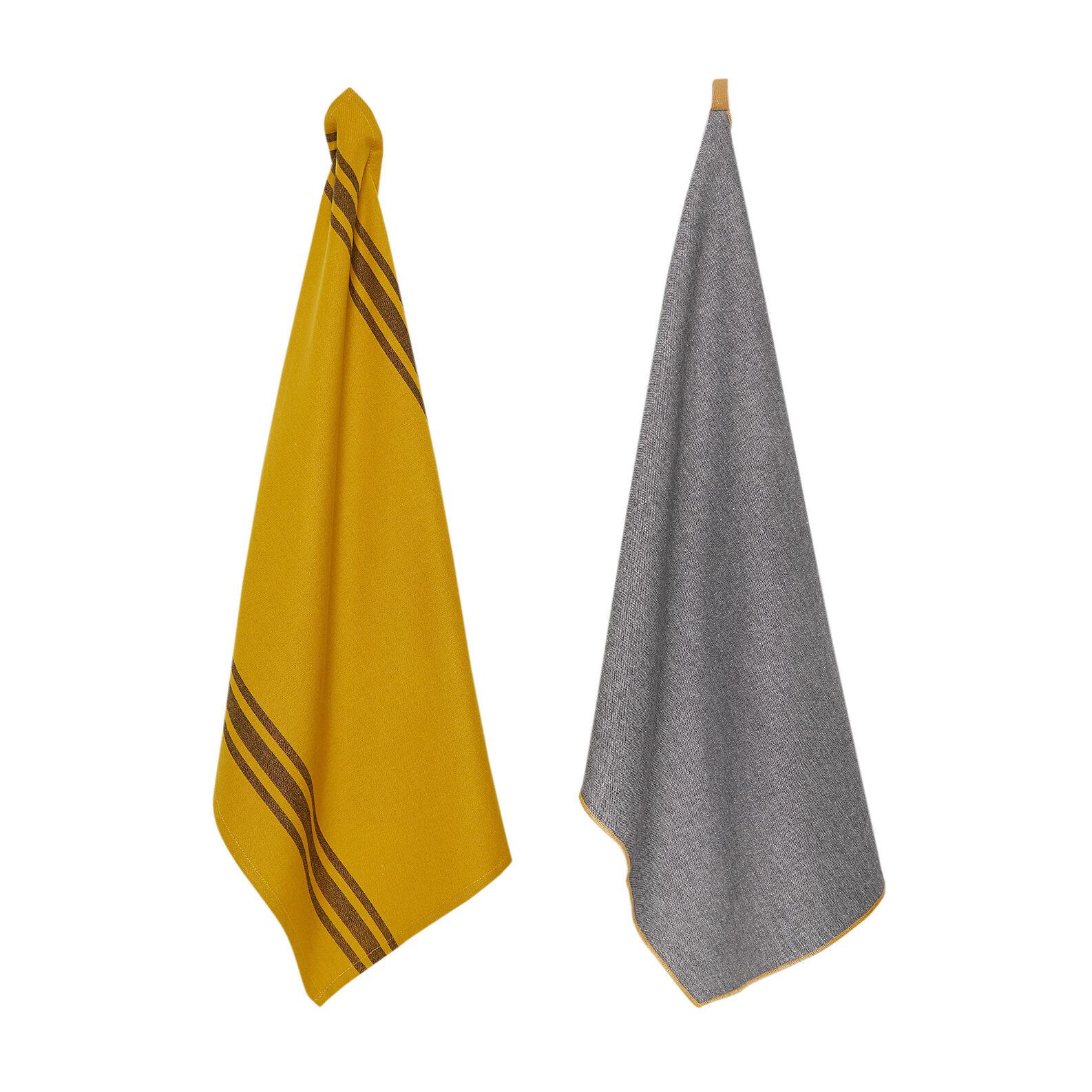 Set of 2 tea towels in 100% cotton