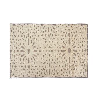 Decorated bath mat