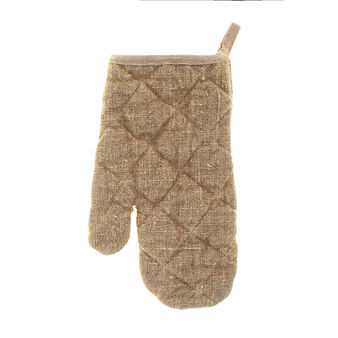 Oven mitt in 100% unrefined European linen