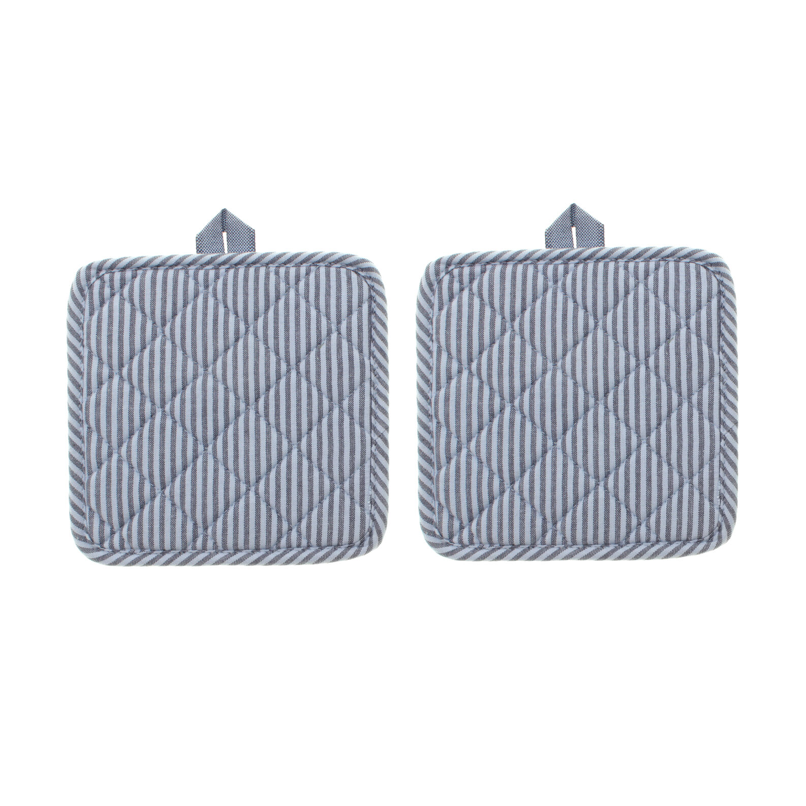 Set of two quilted pot holders