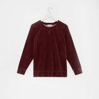 Solid colour velvet top