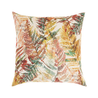 Cushion in fabric with fern print 50x50 cm