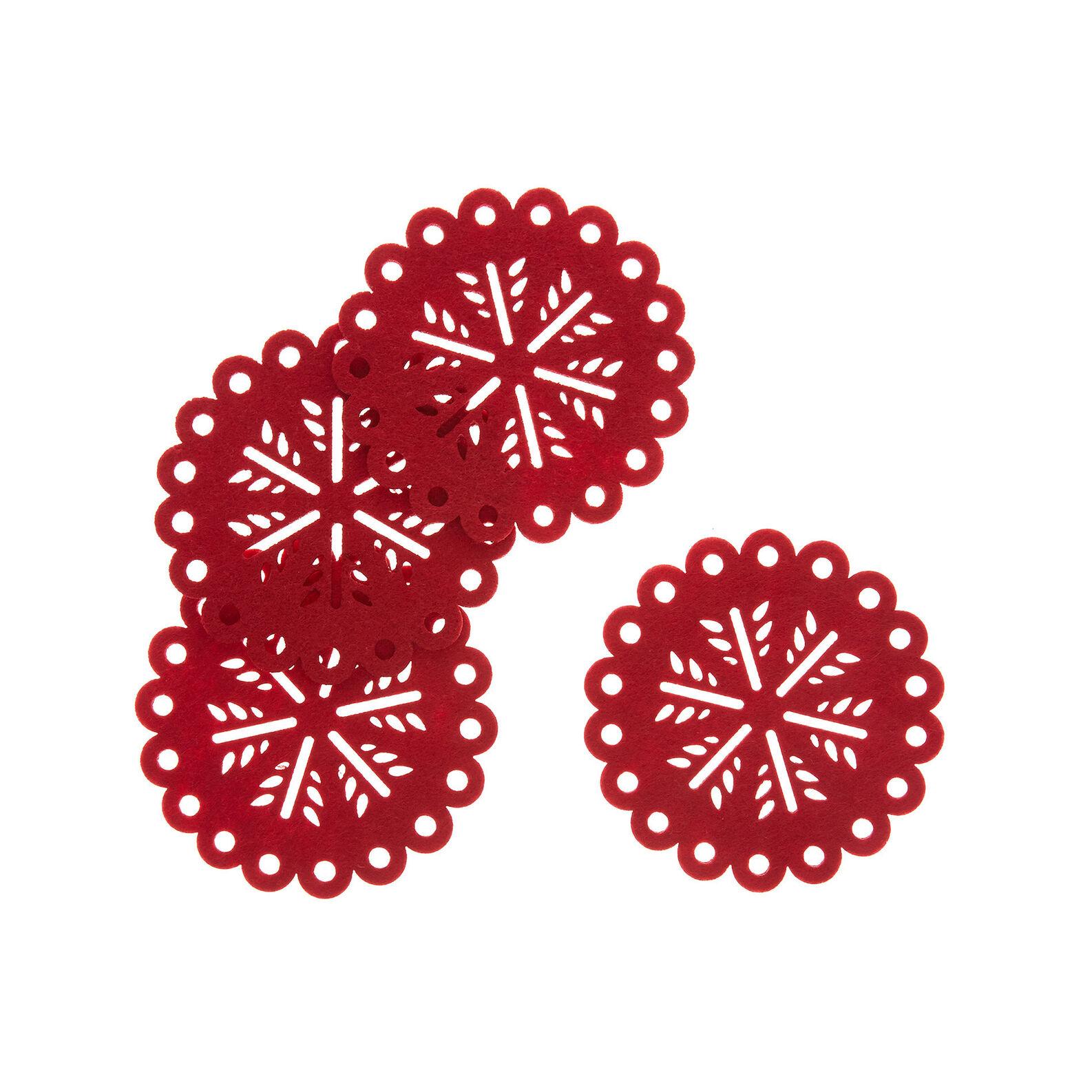 Set 4 sottobicchieri in feltro motivo natalizio