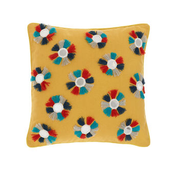 Cotton cushion with small mirrors 45 x 45 cm