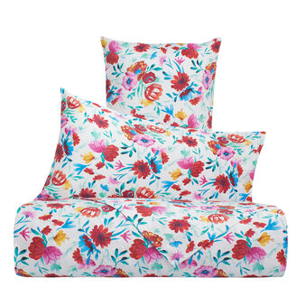 Floral bed linen set in 100% cotton