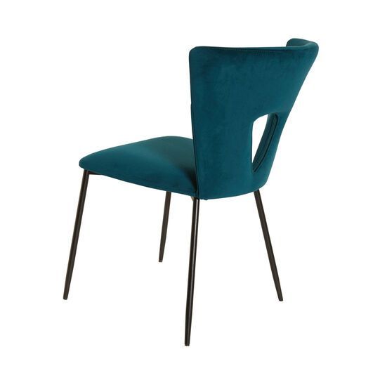 Dark Teal small velvet armchair