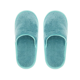 Solid colour cotton terry slippers