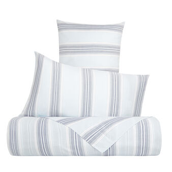 Yarn-dyed striped cotton bed sheet set