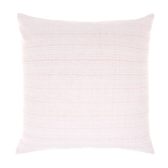 Striped cotton cushion
