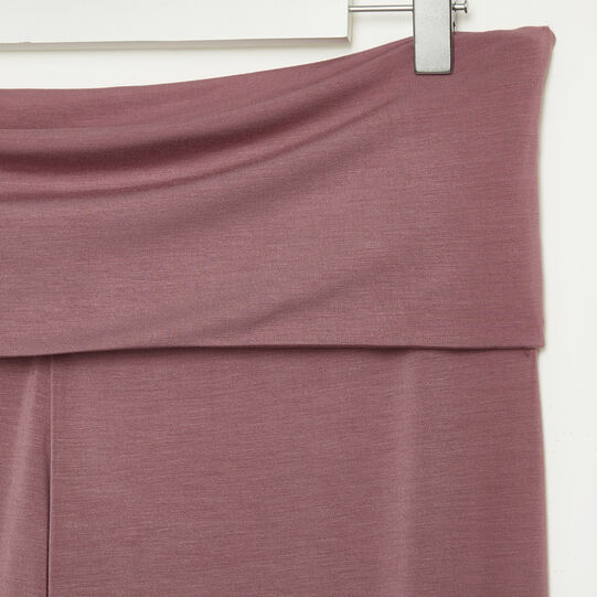 Solid colour bamboo viscose trousers