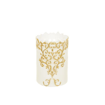 Candle with gold decoration
