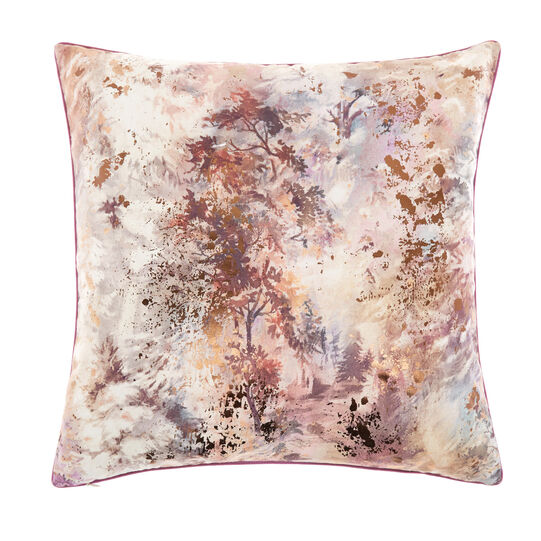 Cushion with faded print and foil application