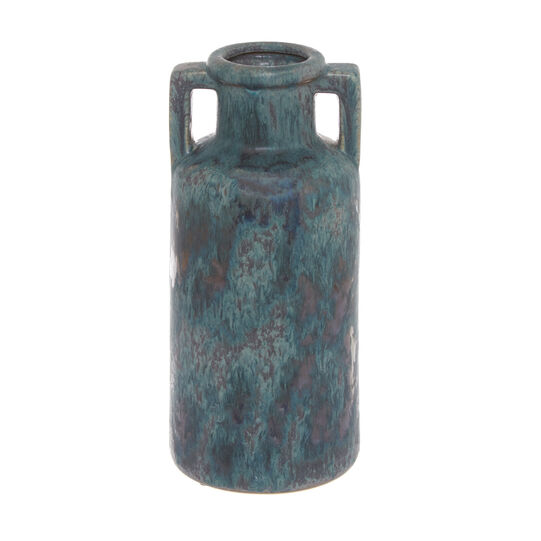 Handmade decorative ceramic bottle