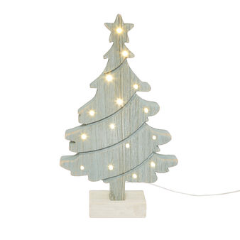 LED Christmas tree in wood