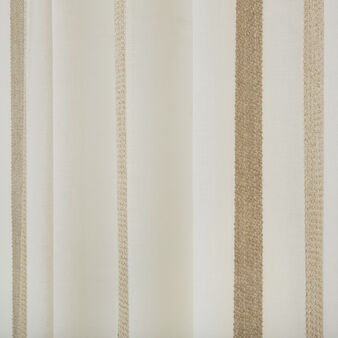 Curtain fabric with hidden pass-through stripes