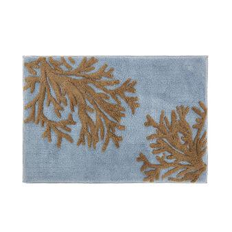 Tappeto bagno cotone motivo coralli
