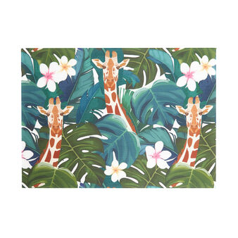PVC table mat with giraffe print