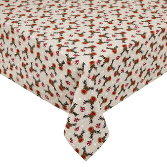 100% cotton tablecloth with Rudolph print