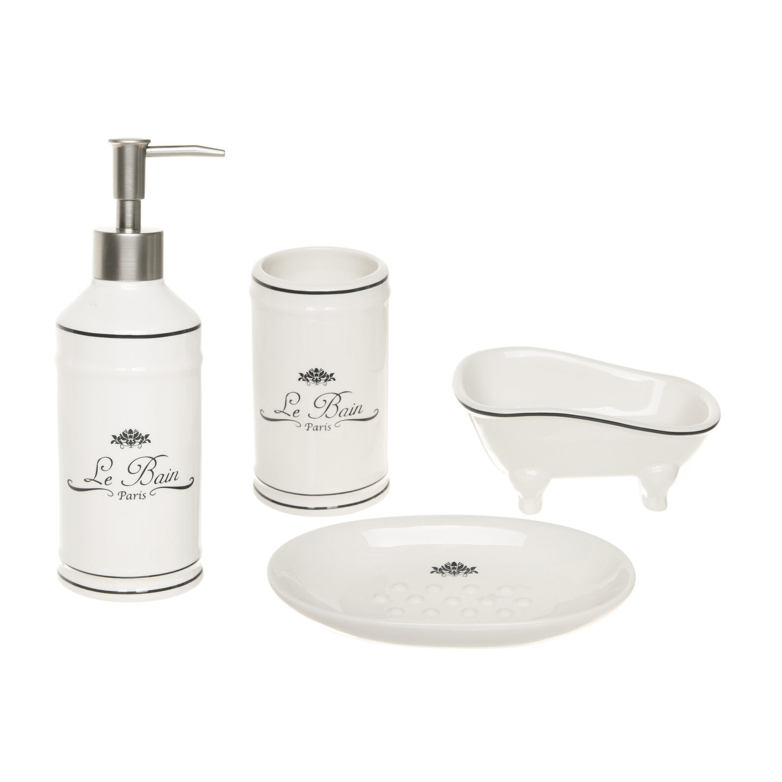 Vintage ceramic bathroom set