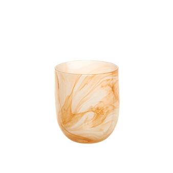 Bottle vase in marble-effect glass
