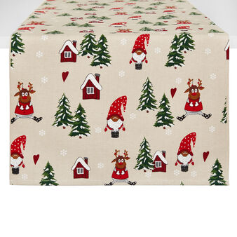 100% cotton table runner with Christmas print