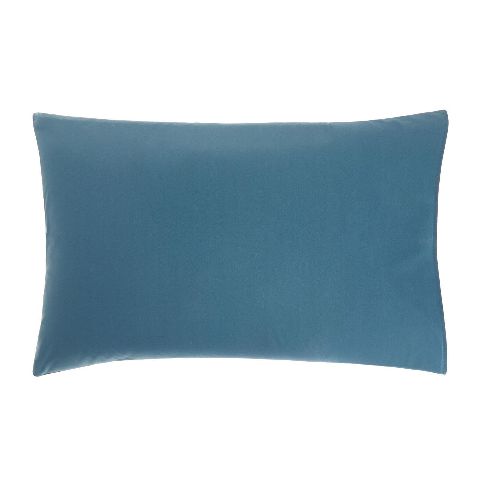 Cotton percale pillowcase with tartan pattern
