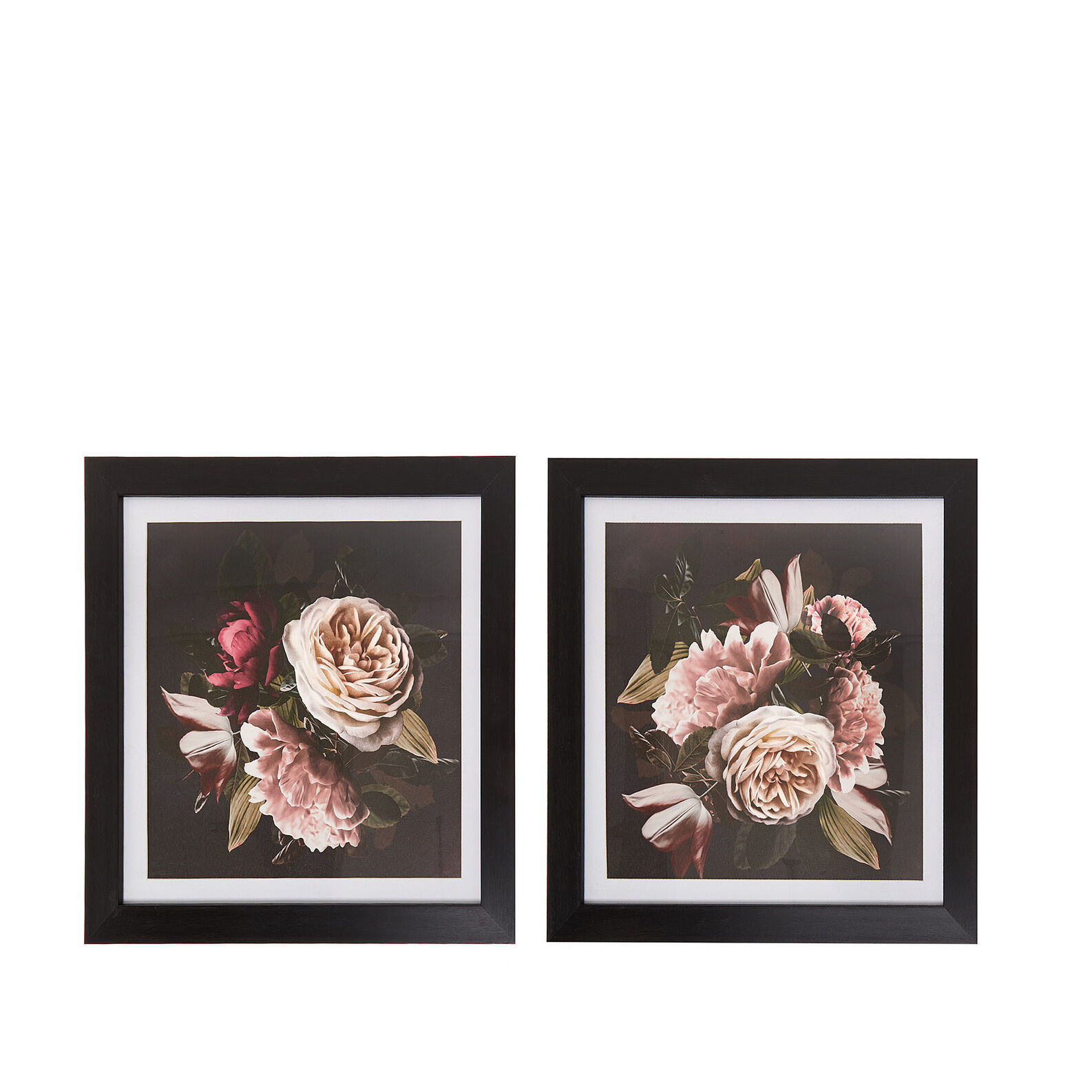 Picture with floral photo print