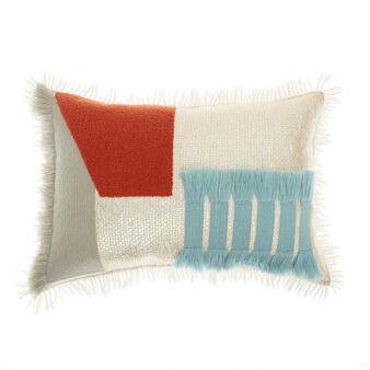 Cuscino cotone effetto patchwork 35x50cm