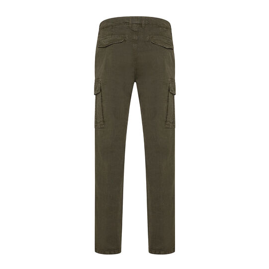 Stretch cargo trousers with pockets