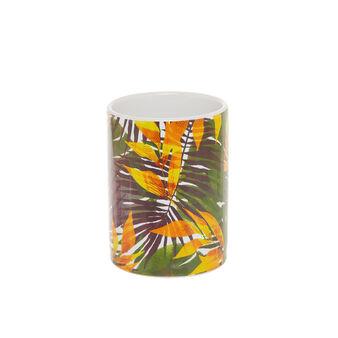 Portaspazzolini ceramica motivo tropical