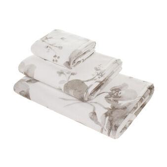 Portofino floral towel in 100% cotton terry