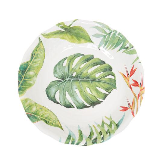 Insalatiera melammina foglie tropicali
