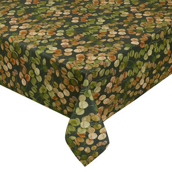 100% twill cotton tablecloth with leaf print
